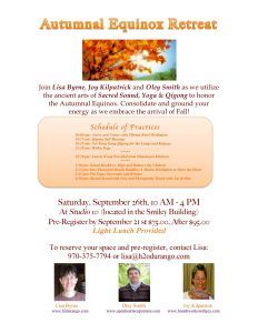Autumnal Equinox Retreat